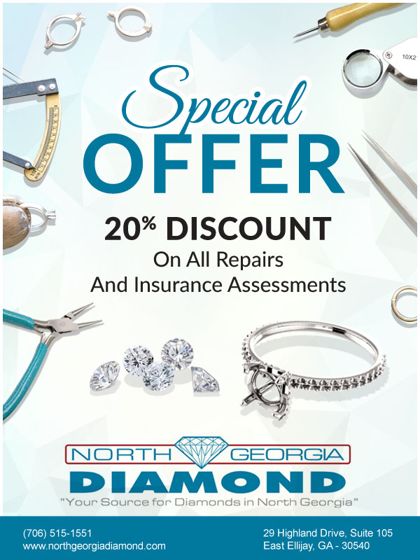 "Special Offer on Repairs!<br/><a href=""http://northgeorgiadiamond.com/special-offers.aspx"" target=""_blank"">Click Here</a>"